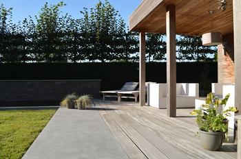 TuinOntwerpBureau De Keyser - Realisaties - Loungetuin met vijver - Oudenaarde