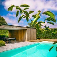 TuinOntwerpBureau De Keyser - Realisaties -Moderne villatuin met zwembad - Knesselare
