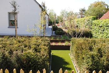 TuinOntwerpBureau De Keyser - Realisaties -Tijdloze tuin met zwembad - Donk