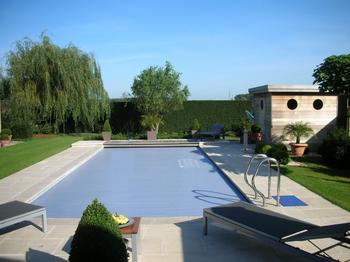 TuinOntwerpBureau De Keyser - Realisaties -Villatuin met zwembad - Adegem